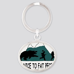 Fat people Oval Keychain