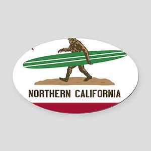 Northern California Bigfoot Oval Car Magnet