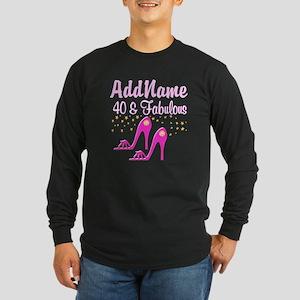 40TH PINK SHOES Long Sleeve Dark T-Shirt