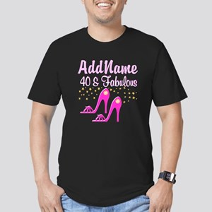 40TH PINK SHOES Men's Fitted T-Shirt (dark)