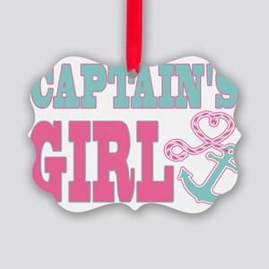 Captains Girl Boat Anchor and Hea Picture Ornament