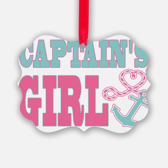 Captains Girl Boat Anchor and Hea Ornament