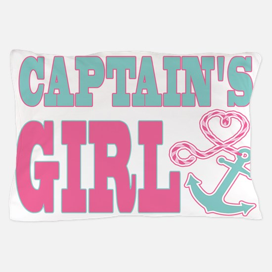 Captains Girl Boat Anchor and Heart Pillow Case
