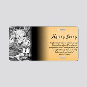 Henry Every Historical Aluminum License Plate