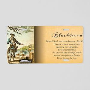 Balckbeard Historical Aluminum License Plate