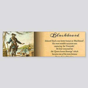 Balckbeard Historical Sticker (Bumper)