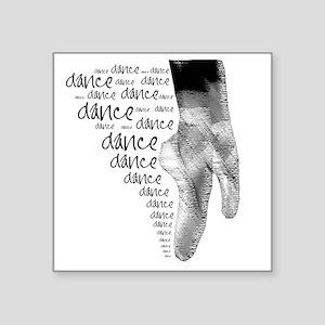 "dance dance dance 2 Square Sticker 3"" x 3"""