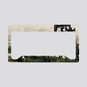 Oil Country, California Style License Plate Holder