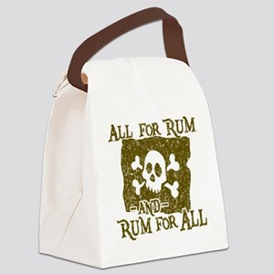 All For Rum Canvas Lunch Bag