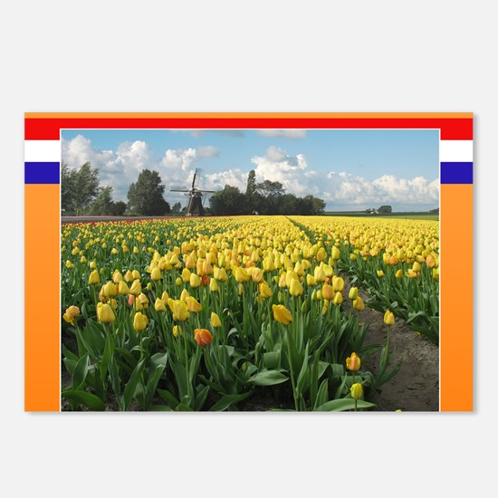 Holland Windmill and Tuli Postcards (Package of 8)