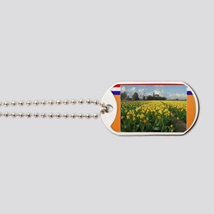 Holland Windmill and Tulips Dog Tags