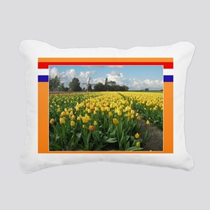 Holland Windmill and Tul Rectangular Canvas Pillow