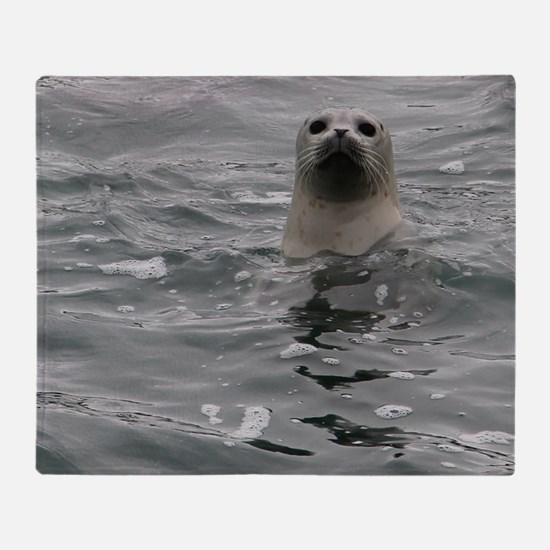 Harbor Seal Throw Blanket