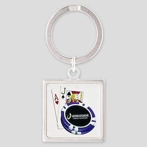 horseshoe21 Square Keychain