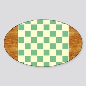 CheckerBoard-PlaceMat Sticker (Oval)