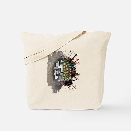 Left Brain Right Brain Tote Bag