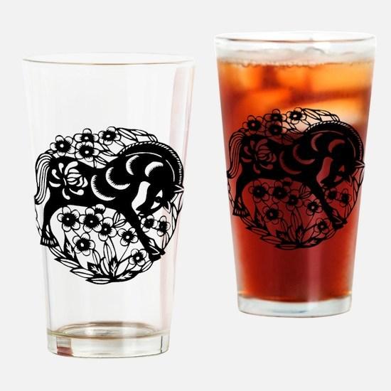 horseA60light Drinking Glass