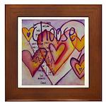 Love Hearts + Poem Words Framed Tile