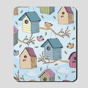 Cute Birdhouses Mousepad