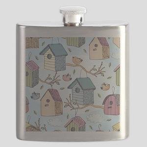 Cute Birdhouses Flask