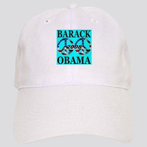 Barack Obama 2008 Peace Symbo Cap