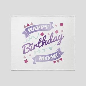 Mom's Birthday Party Throw Blanket