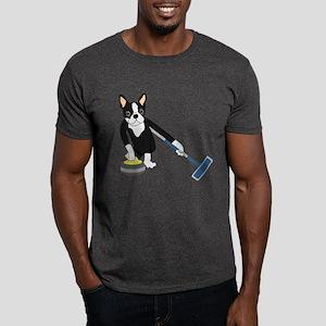 Boston Terrier Olympic Curling Dark T-Shirt