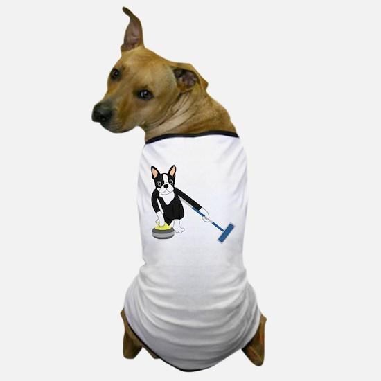 Boston Terrier Olympic Curling Dog T-Shirt