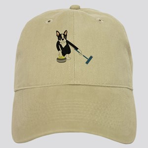 Boston Terrier Olympic Curling Cap