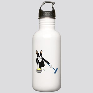 Boston Terrier Curling Stainless Water Bottle 1.0L