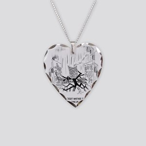 Playing an Organ or Flying a  Necklace Heart Charm