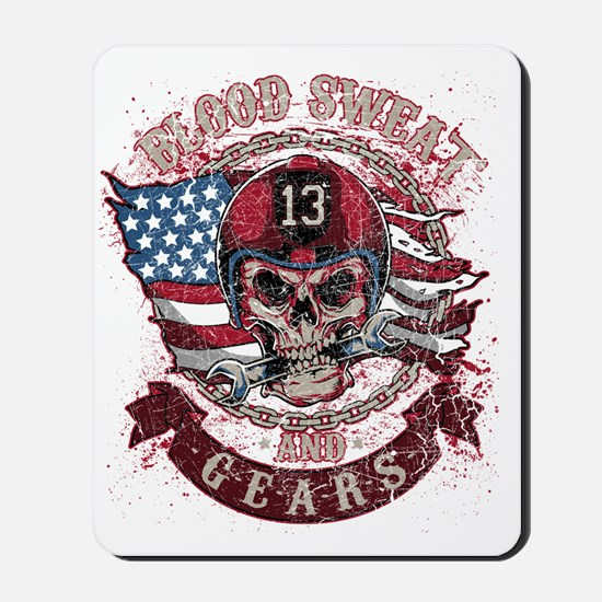 Blood Sweat and Gears Mousepad