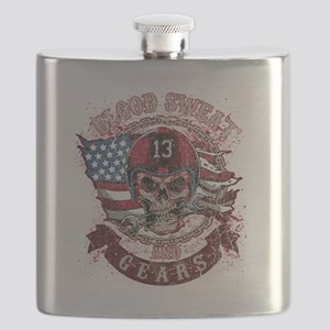 Blood Sweat and Gears Flask