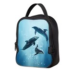 Dolphins in the Sea Neoprene Lunch Bag