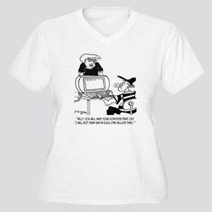 Print Out 1 Milli Women's Plus Size V-Neck T-Shirt