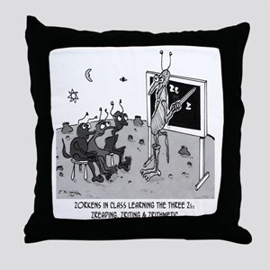 The Three Zs Throw Pillow