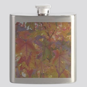 Autumn Leaves 97M Red Colorful Fall Tree Lea Flask