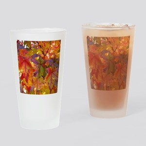 Autumn Leaves 97M Red Colorful Fall Drinking Glass