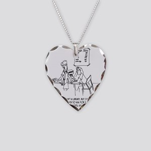 Shake, Fries  a Pencil Sharpe Necklace Heart Charm