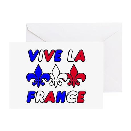 Vive La France Greeting Cards (Pk of 10)