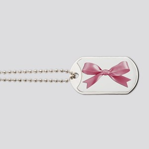 Pink Bow Dog Tags