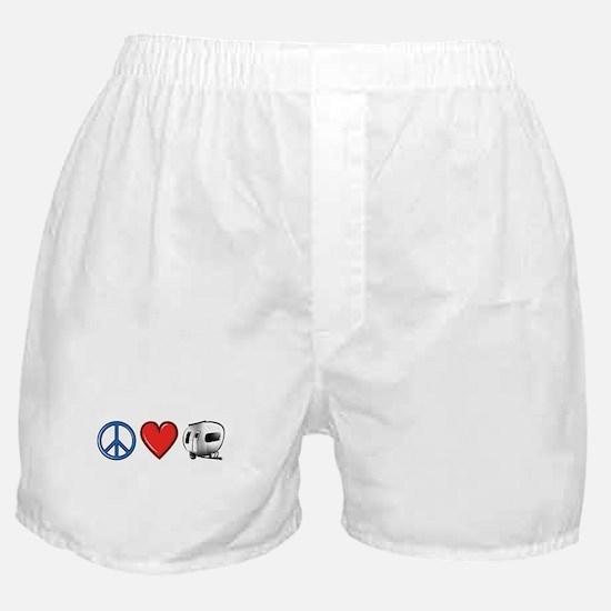 Peace Love & Camping Boxer Shorts