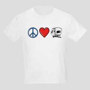 Peace Love & Camping Kids Light T-Shirt