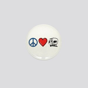 Peace Love & Camping Mini Button