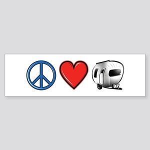 Peace Love & Camping Sticker (Bumper)