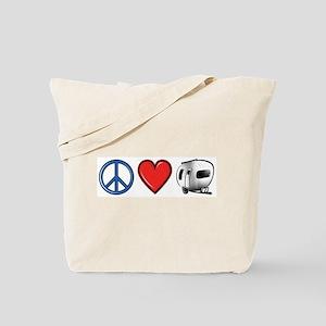 Peace Love & Camping Tote Bag