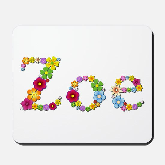 Zoe Bright Flowers Mousepad