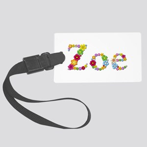 Zoe Bright Flowers Large Luggage Tag