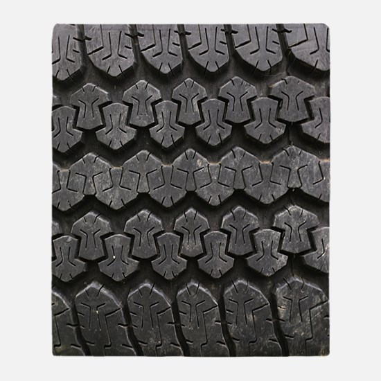 Tire Tracks Throw Blanket