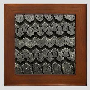 Tire Tracks Framed Tile
